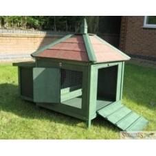 Green Chicken Coop