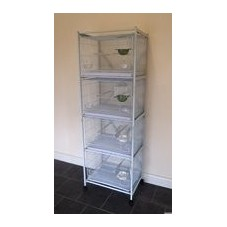 4-Cage Stand for Metal Breeding/Stock Cage