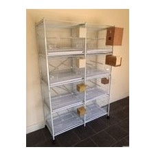 8-Cage Stand for Metal Breeding/Stock Cage