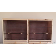 """Double Breeding Cage Canary 14"""" Fronts"""