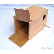 Budgie Nest Box with Built-in Concave