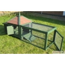 Green Chicken Coop plus Run