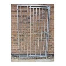1m Galvanised Dog Run Panel with Door