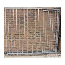 2m Galvanised Dog Run Panel with Door