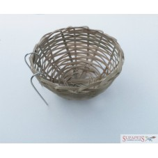 Wicker Nest Pan 10cm diameter approx