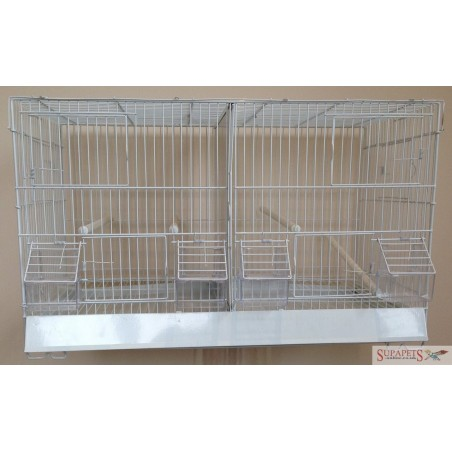 PW - Wire Double Breeding Cage with nest box door (Box of 2)
