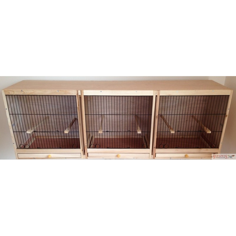 "Triple Canary Breeding Cage (14"" Fronts)"