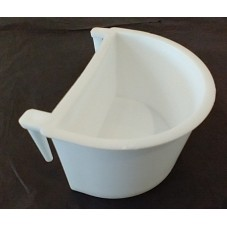 Large Plastic D Cup White